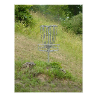 Chains of A Disc Golf Basket Poster