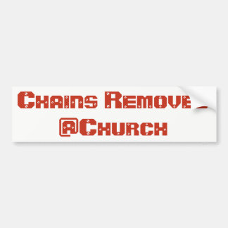 Chains Removed @Church sticker