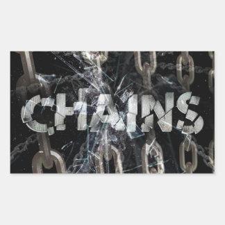 Chains Rectangular Sticker