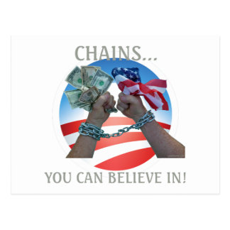 Chains you can believe in... postcard