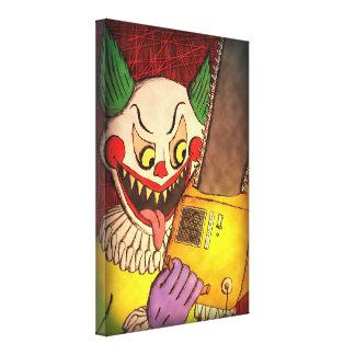 Chainsaw Clown - canvas Canvas Print