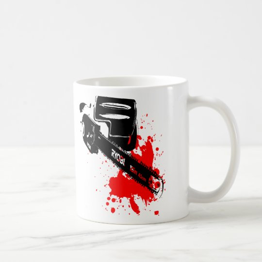 chainsaw coffee mug