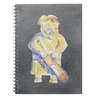 Chainsaw Granny Spiral Notebook