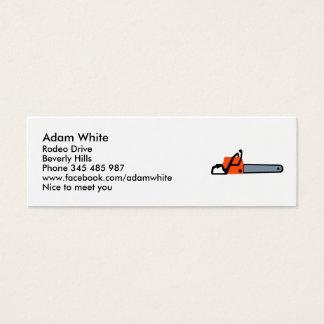 Chainsaw Mini Business Card