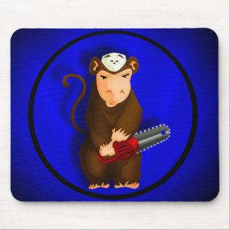 Chainsaw Monkey Mouse Pad