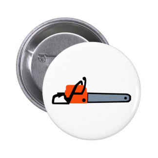Chainsaw Pinback Button