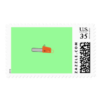 chainsaw postage stamp