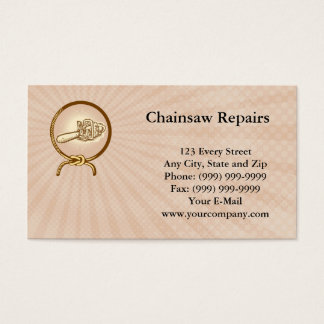 Chainsaw Repairs Business card
