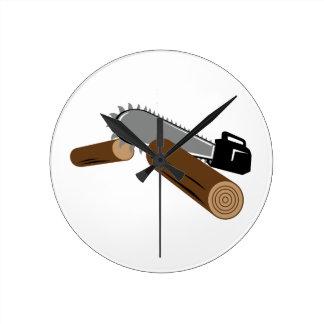 Chainsaw Round Clock