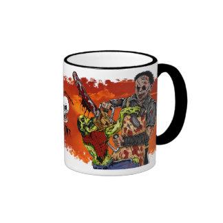Chainsaw VS Zombie Cup Ringer Coffee Mug
