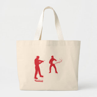 Chainsaw Zombie - Video Games Geek Gamer Zombies Canvas Bags