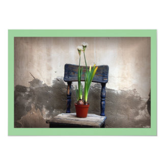 Chair and Flower Invitation