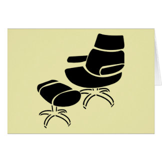 Chair and Footstool Set Greeting Cards