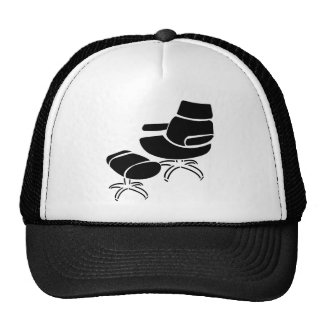 Chair and Footstool Set Mesh Hat