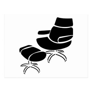 Chair and Footstool Set Postcard
