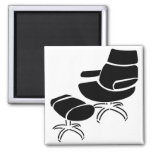 Chair and Footstool Set Refrigerator Magnet