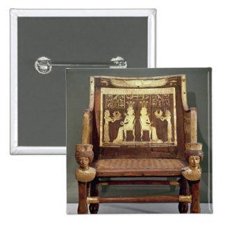 Chair belonging to Princess Satamun Pinback Buttons