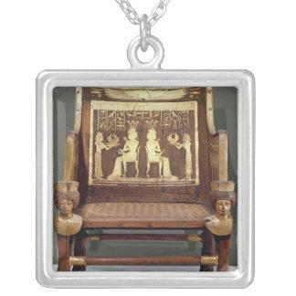 Chair belonging to Princess Satamun Square Pendant Necklace