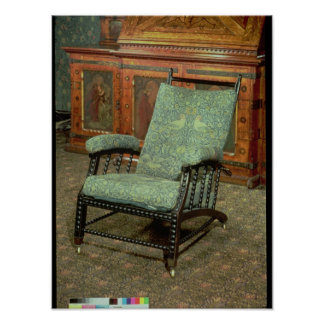 Chair by William Morris Poster