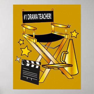 Chair de director: Profesor del drama del número Póster