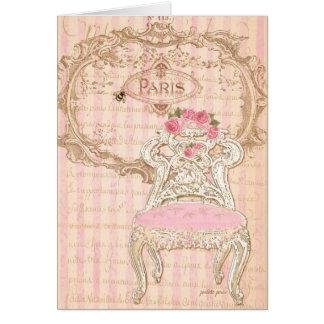 Chair de París París Royal Pink de la Queen's Felicitacion