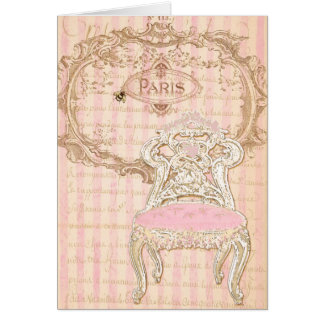 Chair del francés de Brocante Royale Pink de la Tarjeta Pequeña
