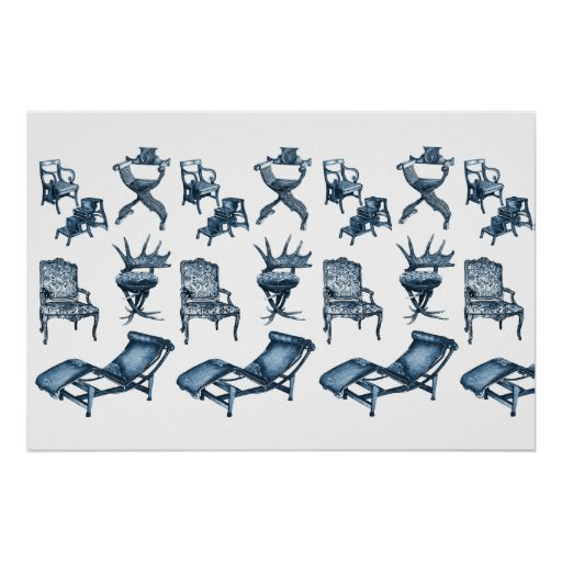 Chair drawings posters