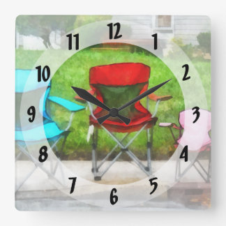 Chair Family Square Wall Clock