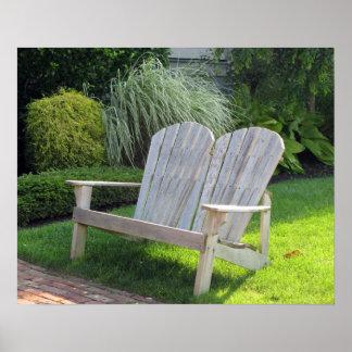 Chair in Ocean Grove NJ / Jersey Shore Poster
