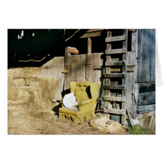 Chair in the Barn Card