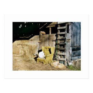 Chair in the Barn Postcard