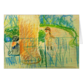 Chair in the garden by Berthe Morisot Cards