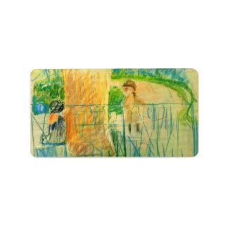 Chair in the garden by Berthe Morisot Custom Address Labels