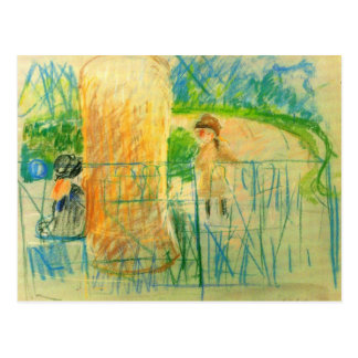 Chair in the garden by Berthe Morisot Postcards