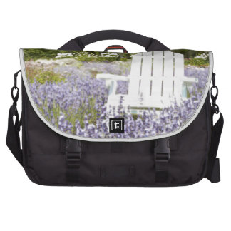 Chair in the Lavender field Laptop Bag