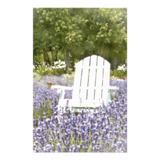 Chair in the Lavender field Custom Stationery