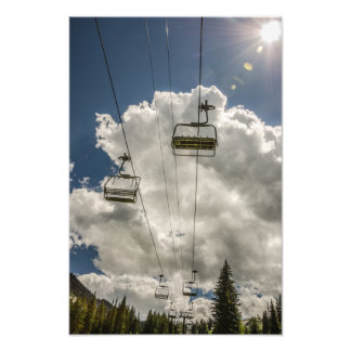 Chair Lift Running Empty in Summer Photo Print