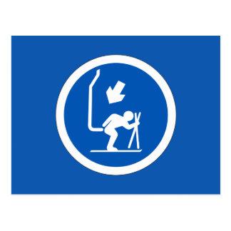 Chair Lift Sign, Andorra Postcard