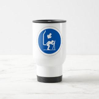 Chair Lift Sign, Andorra Travel Mug