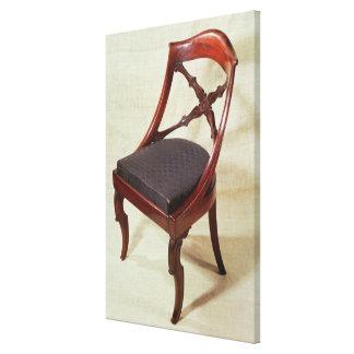 Chair, Louis-Philippe period Canvas Print