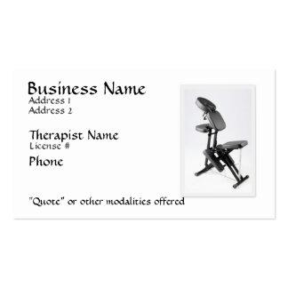 Chair Massage Therapist Business Card Template