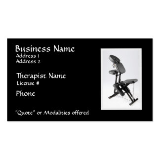 Chair Massage Therapist II, modalities on reverse Double-Sided Standard Business Cards (Pack Of 100)