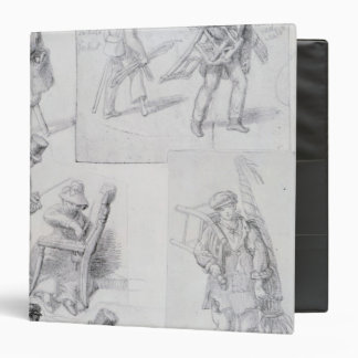 Chair menders on the streets of London, 1820-30 3 Ring Binder