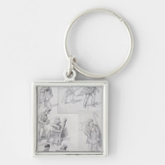 Chair menders on the streets of London, 1820-30 Key Chain
