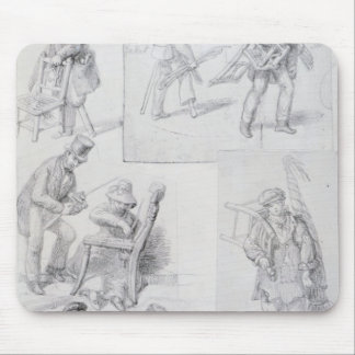 Chair menders on the streets of London, 1820-30 Mouse Pad