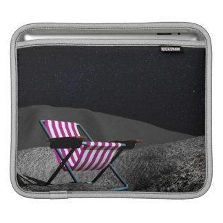 Chair on Moon iPad Sleeve