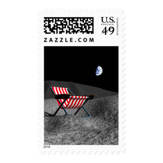 Chair on the Moon Postage Stamp