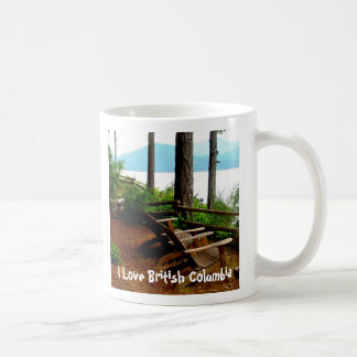 Chair Overlooking the Inland Passage Coffee Mug