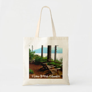 Chair Overlooking the Inland Passage Tote Bag