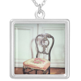 Chair, Second Empire Style Square Pendant Necklace